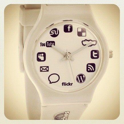 El reloj de un Community Manager #SocialMedia #Watch