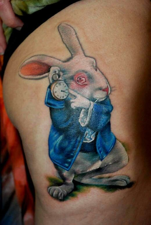 white rabbit tattoo tim burton pinterest tatuajes de conejo conejo y tim burton. Black Bedroom Furniture Sets. Home Design Ideas