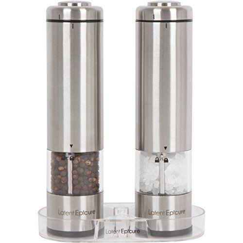 10 Best Electric Salt And Pepper Grinder Sets Electric Pepper Grinder Salt And Pepper Grinders Stuffed Peppers