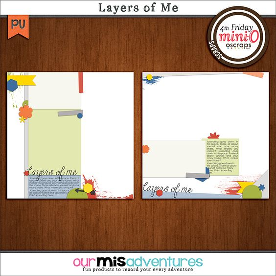 Layers of Me Templates by Our Misadventures | This template set was designed with paper layers in mind! Scrap about your own many layers, or someone else's!