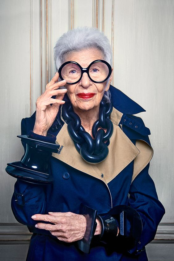 C Social Front. Perfect Pairing: Iris Apfel + Blue Illusion