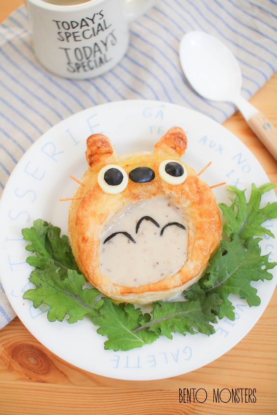 Totoro Puff Pastry Soup Bowl