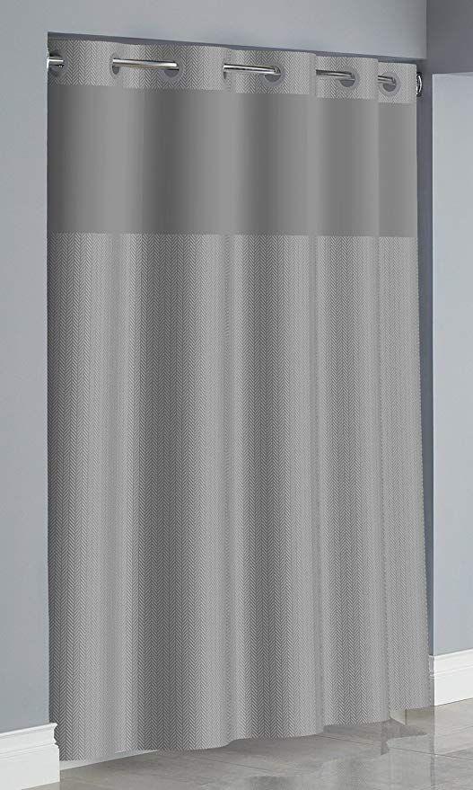 Amazon Com Arcs Angles Hookless Rbh34my051 Herringbone Curtain
