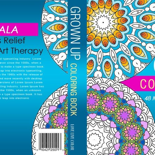 Eye Catching Mandala Coloring Book Cover We Create And Sell Coloring Books For Grown Ups So The Romance Book Covers Mandala Coloring Books Book Cover Template