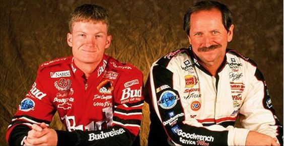 Junior with his dad, Dale