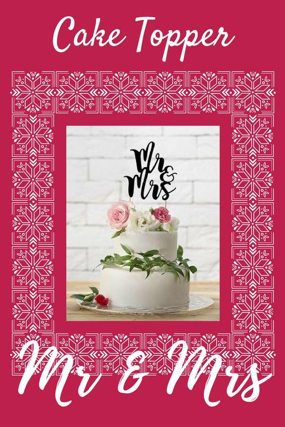 Ecco il cake topper perfetto per decorare la tua torta nuziale, da abbinare non solo alle decorazioni ma anche al tema scelto per il tuo matrimonio. Lo stile glamour o romantico è perfettamente rappresentato da scritte o monogrammi con caratteri sinuosi. #wedding #weddingideas #eBay4Wedding #caketopper