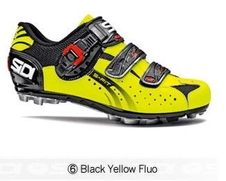 Sidi Eagle5 Fit Mtb Cycling Shoes Black Yellow Fluo Sidi Eagle5
