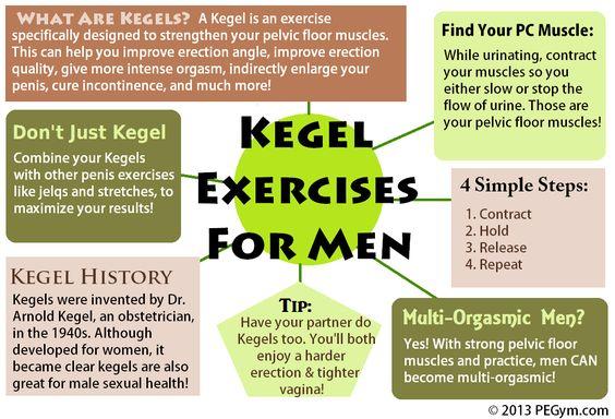 Los ejercicios de Kegel para los hombres de infografía - sample masshealth fax cover sheet