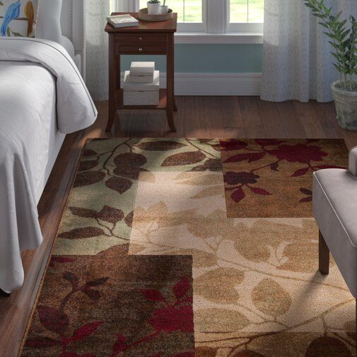 Albion Floral Beige Brown Burgundy Red Area Rug Area Rugs Rugs