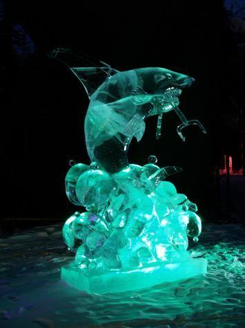 Ice Sculpture - Shark Photo - World Ice Art Championship, Fairbanks, Alaska