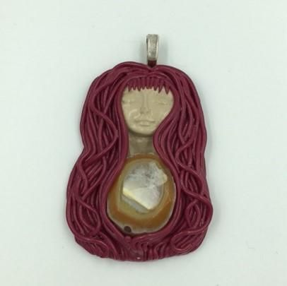 The Red Princess pendant with Agate
