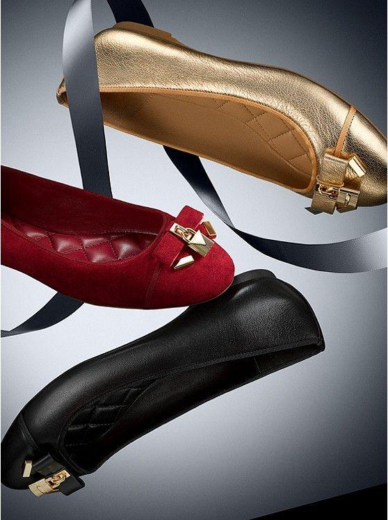 Alice Leather Ballet Flat   Michael
