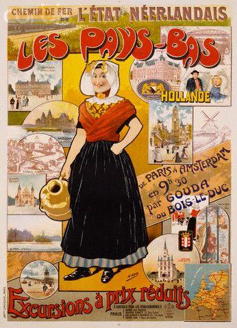 Les Pays-Bas Hollande Poster by Henri Gray Zuid-Beveland #Zeeland #ZuidBeveland #protestant