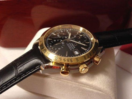 OMEGA Speedmaster Date Automatic Chrono,C1164,Steel/Gold,Ref.1750043,NewOldStock
