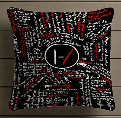 twenty one pilots lyric quote pillow case 20 x 20 two sides in Home & Garden, Home Décor, Pillows | eBay