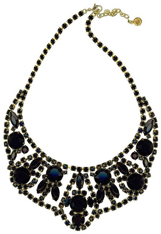 Was $248.00 now $99.20 60% off winter sale -USA Made! Swarovski Elements - black magic necklace