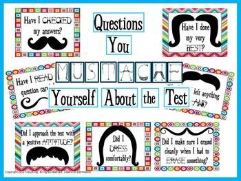 Test Prep Questions You MUSTACHE Yourself Bulletin Board ...