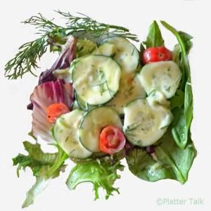 Creamy Dill #Cucumber #Salad from Platter Talk. by leila