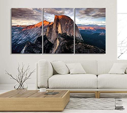 Buy Half Dome Wall Art Yosemite National Park Art Print Extra Large Wall Art Canvas Print Home Living Room Decoration Office Wall Art Ready Hang 3 Extra In 2020