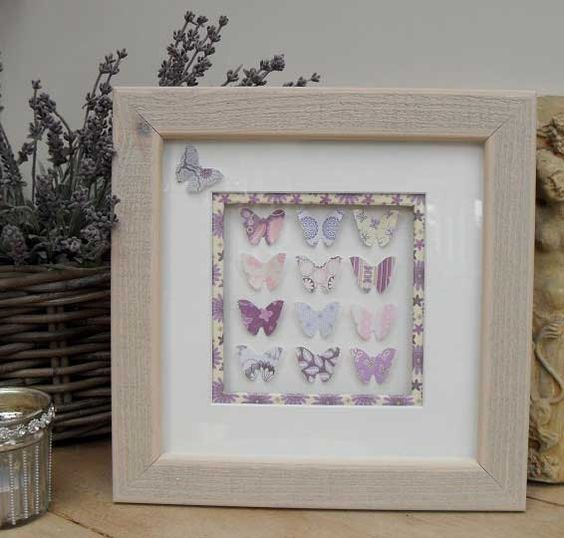 3D BUTTERFLY ART, Lilac Mixed media Framed Picture by ItsybitzysStore on Etsy https://www.etsy.com/listing/221326420/3d-butterfly-art-lilac-mixed-media