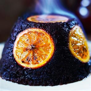 Chocolate orange pudding recipe. This is a scrumptious alternative to a traditional Christmas pudding.
