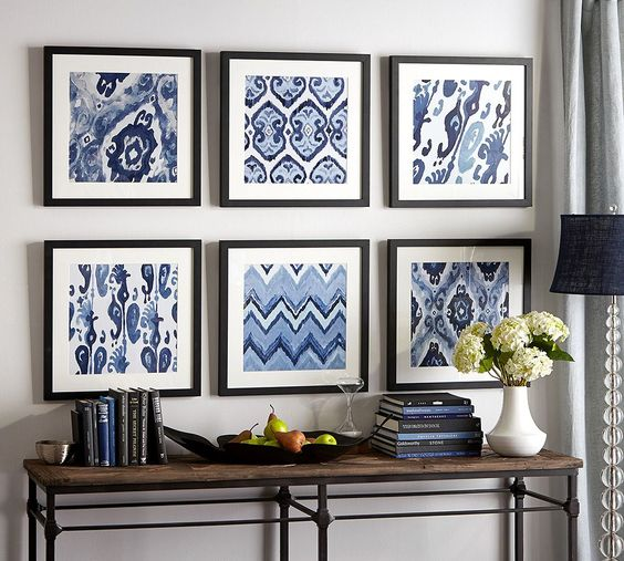 Refresh Your Home with Wall Art from the Pottery Barn blog. Blue and white is classic, yet updated as well.