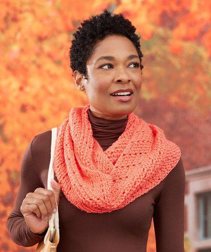 Chevron Herringbone Cowl Free Crochet Pattern LW5118