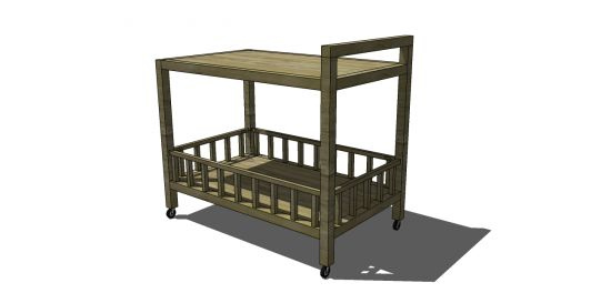 Free DIY Furniture Plans: How to Build a Jasper Serving and Bar Cart | The Design Confidential