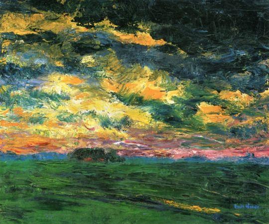 Ruffled Autumn Clouds - Emil Nolde: