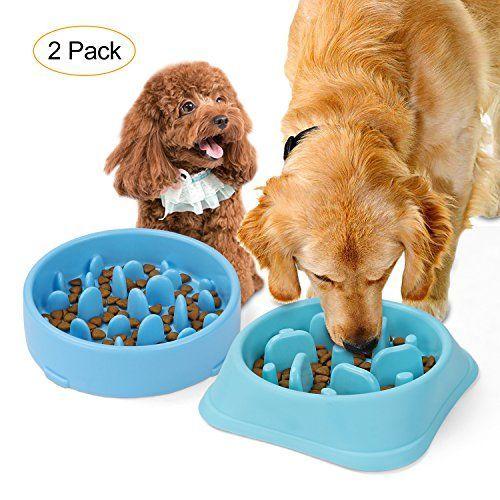 Jasgood Bloat Stop Dog Puzzle Bowl Maze Dog Food Water Bowl Pet