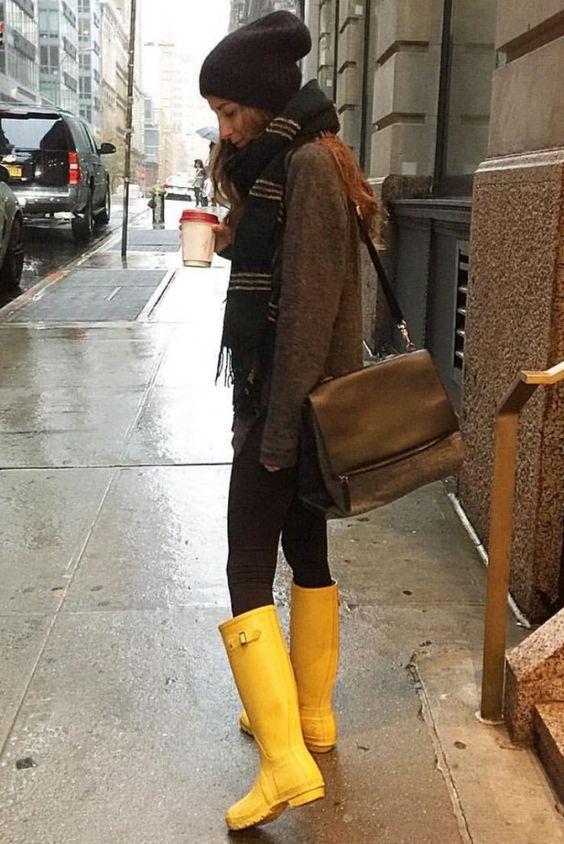 awesome Резиновые сапоги женские — Где купить и с чем носить?