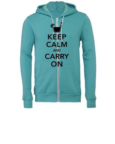 keep calm and carry on - Unisex Full-Zip Hooded Sweatshirt