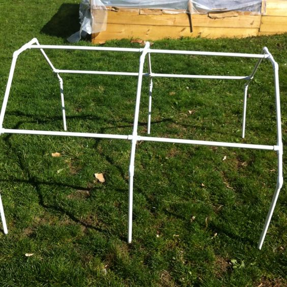 Diy Pvc Gardening Ideas And Projects: Another Shape For Portable Greenhouse (made From PVC Pipe