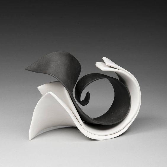 Artist: Elizabeth Kendall, Title: Black and White Pas De Deux ; Porcelain:
