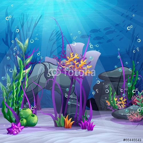 Vector: Illustration of the underwater world