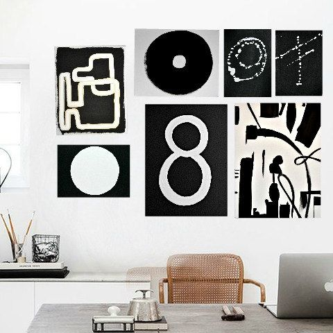 Black White 16x20 Painting Abstract Painting by ArtbyDinaD on Etsy www.etsy.com/shop/ArtbyDinaD