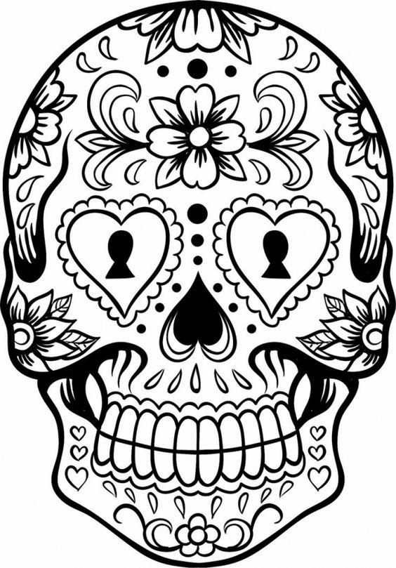 sugar skull girl coloring sheet for dia de los muertos description from pinterestcom - De Los Muertos Coloring Pages