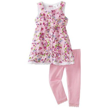 Young Hearts Toddler Girls Floral Printed Legging Set $18.00
