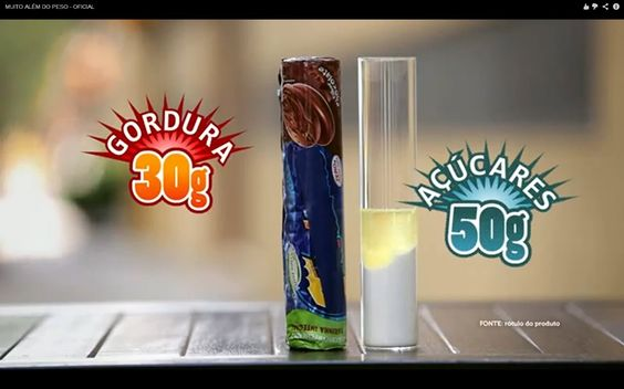 Quantidade de açúcar e óleo em um pacote de bolacha Trakinas