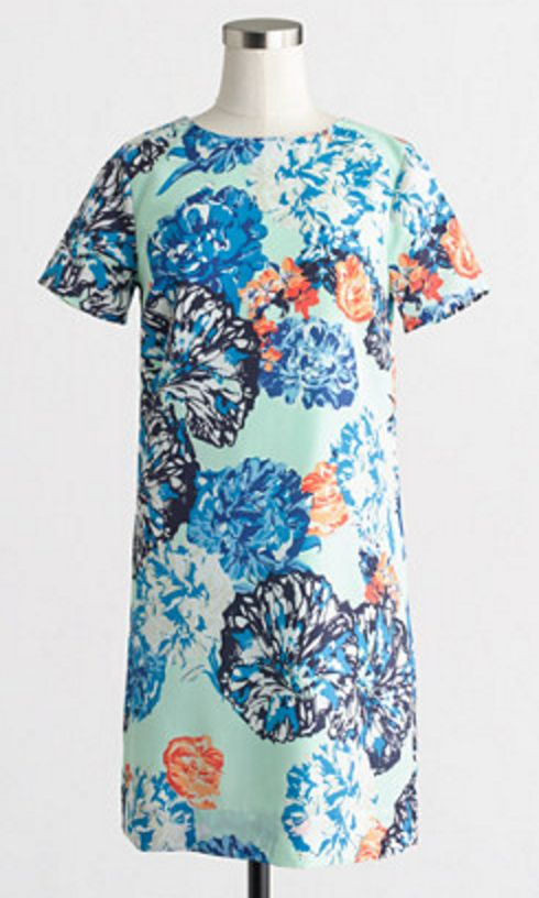 Petite, Drapey Floral T-shirt Dress