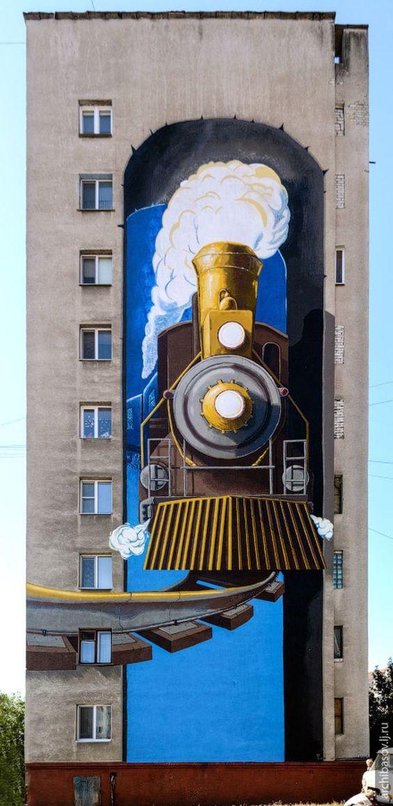 street art, Located in Belgorod, Russia, artist?