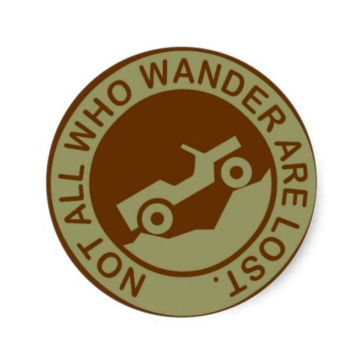 Not all who wander are lost jeep 2 round stickers jeep jku ideas pinterest round stickers jeeps and jeep stickers