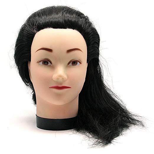 So Beauty Fake Hair Manikin Head Model for Hair Styling