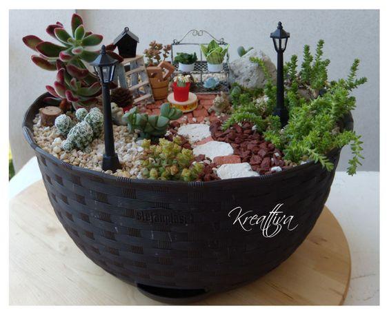 Kreattiva il mio piccolo giardino in miniatura garden - Giardino in miniatura ...