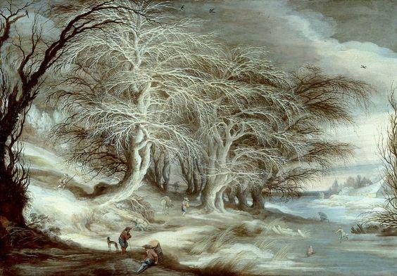 "centuriespast: ""  LEYTENS, Gysbrecht Winter Landscape - Oil on panel, 72 x 105 cm Private collection """