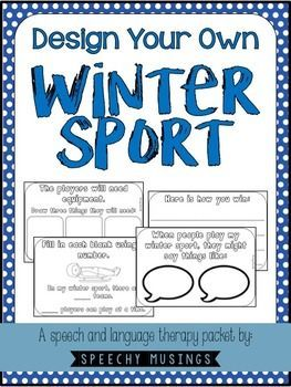 A great language activity for winter! Design your own winter sport with rules, a uniform, and more! From Speechy Musings.