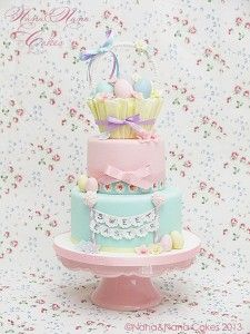Passo a passo: Sweet easter basket cak Tutorial on how to make the easter basket