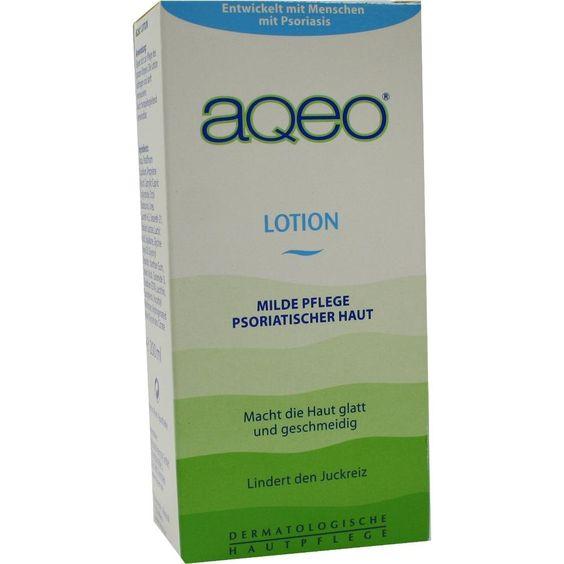 AQEO Lotion:   Packungsinhalt: 200 ml Lotion PZN: 02296921 Hersteller: ALMIRALL HERMAL GmbH Preis: 8,82 EUR inkl. 19 % MwSt. zzgl.…
