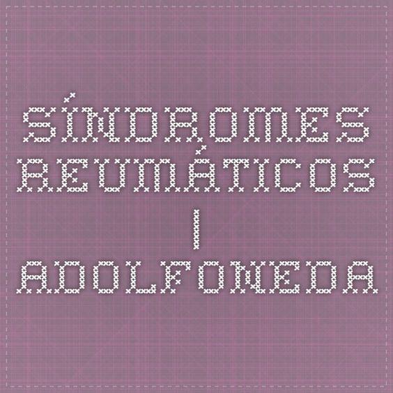 Síndromes reumáticos | Adolfoneda