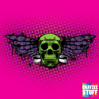"Almost fresh design worth sharing with all of you - ""Winged skull"". Available only on CrayzeeStuff Zazzle store."